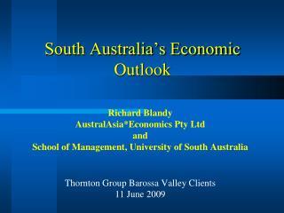 South Australia s Economic Outlook