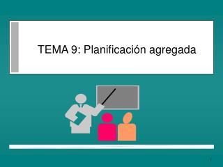 TEMA 9: Planificaci n agregada