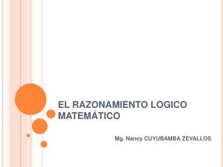 EL RAZONAMIENTO LOGICO MATEM TICO
