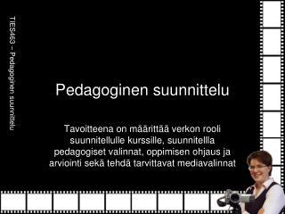 Pedagoginen suunnittelu