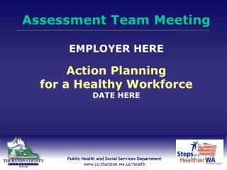 Thurston County Public Health  Social Services Department