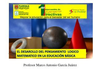 Profesor Marco Antonio Garc a Ju rez