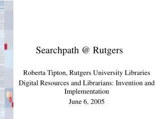 Searchpath  Rutgers