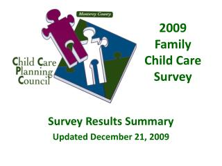 2009 Family Child Care Survey