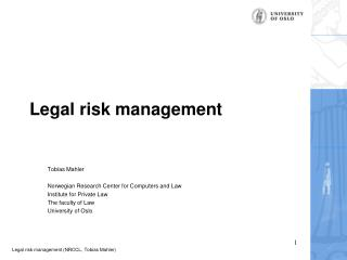 Legal risk management