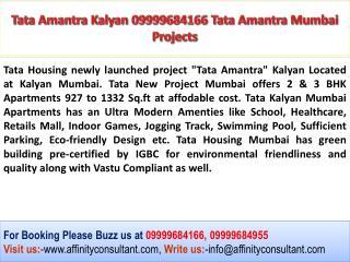 Tata Amantra Kalyan 09999684166 Tata Amantra Mumbai Projects