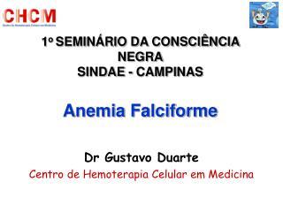 1o SEMIN RIO DA CONSCI NCIA NEGRA SINDAE - CAMPINAS  Anemia Falciforme
