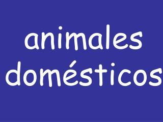 Animales dom sticos