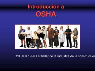 Introducci n a  OSHA