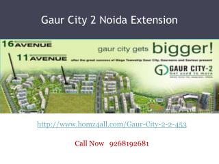 Gaur City 2 Noida Extension