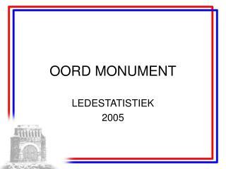 OORD MONUMENT
