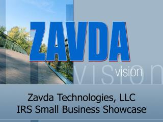 Zavda Technologies, LLC IRS Small Business Showcase