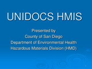 UNIDOCS HMIS