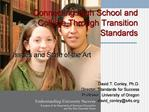 Connecting High School and College Through Transition Standards