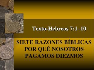 Texto-Hebreos 7:1 10