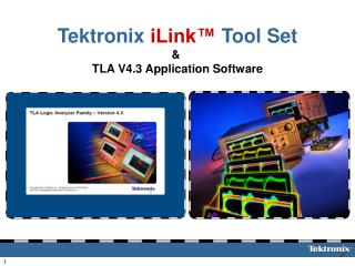 Tektronix iLink  Tool Set   TLA V4.3 Application Software