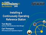 Installing a Continuously Operating Reference Station