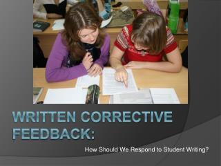 Written Corrective Feedback: