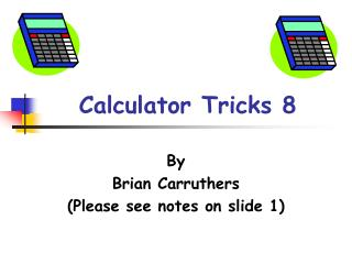 Calculator Tricks 8