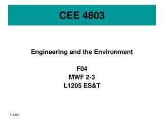 CEE 4803