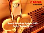 Saeco Brewing System SBS  Saeco Br hsystem