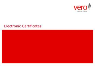 Electronic Certificates