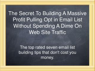 List-Blueprint How to Build an Optin Email List