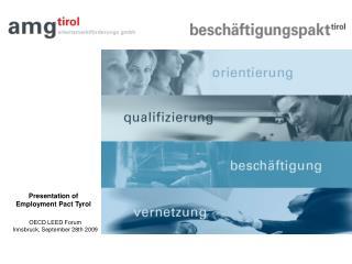 Presentation of Employment Pact Tyrol