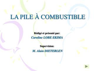 LA PILE   COMBUSTIBLE