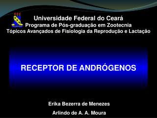 Universidade Federal do Cear  Programa de P s-gradua  o em Zootecnia T picos Avan ados de Fisiologia da Reprodu  o e Lac