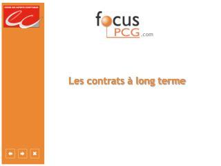 Les contrats   long terme