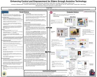 Enhancing Control and Empowerment for Elders through Assistive Technology