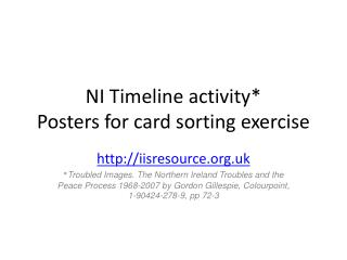 NI Timeline activity Posters for card sorting exercise
