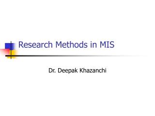 Research Methods in MIS