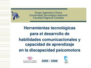 Grupo Ingenier a Cl nica Universidad Tecnol gica Nacional Facultad Regional C rdoba