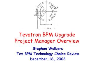 Tevatron BPM Upgrade  Project Manager Overview