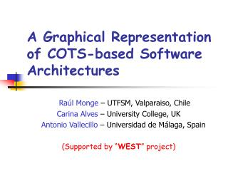 A Graphical Representation of COTS-based Software Architectures