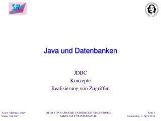 Java und Datenbanken