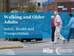 Walking and Older Adults