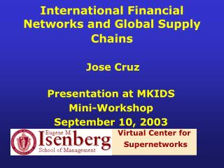 International Financial Networks and Global Supply Chains
