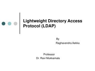 Lightweight Directory Access Protocol LDAP