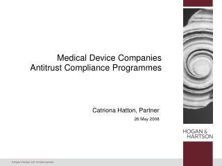 Medical Device Companies Antitrust Compliance Programmes