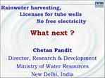 Rainwater harvesting,