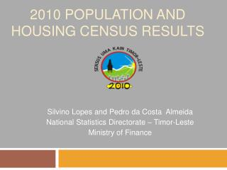 2010 population and housing census results