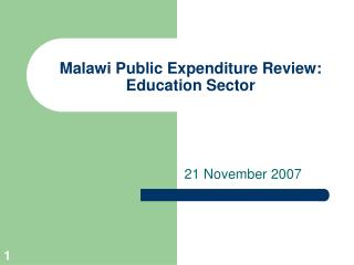 Malawi Public Expenditure Review: Education Sector