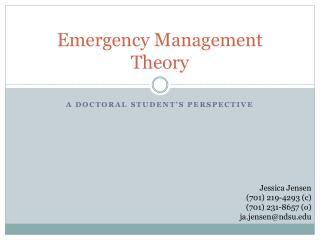 Emergency Management Theory