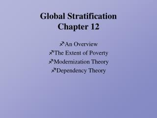 Global Stratification Chapter 12