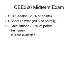CEE320 Midterm Exam
