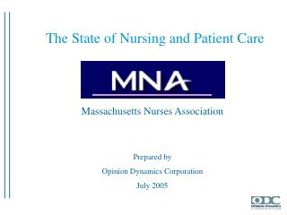 Massachusetts Nurses Association   Prepared by Opinion Dynamics Corporation July 2005