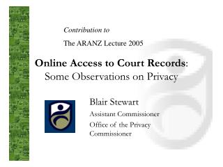 Online Access to Court Records:  Some Observations on Privacy